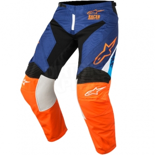 2018 Alpinestars Racer Kit Combo - Supermatic Blue Flo Orange Aqua Image 4