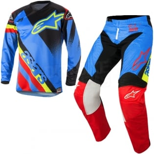 2018 Alpinestars Racer Kit Combo - Supermatic Aqua Black Red Image 3