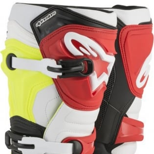 Alpinestars Tech 3 Boots - Black Flo Yellow Red Image 2