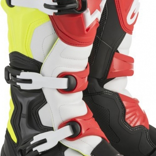 Alpinestars Tech 3 Boots - Black Flo Yellow Red Image 3