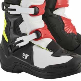 Alpinestars Tech 3 Boots - Black Flo Yellow Red Image 4