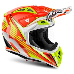 2018 Airoh Aviator 2.2 Helmet Double Orange Image 4