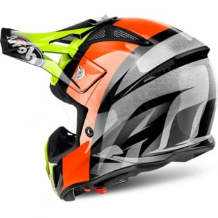 2018 Airoh Aviator 2.2 Helmet Revolve Orange Image 2