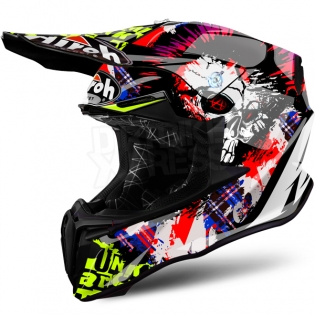 2018 Airoh Twist Helmet Crazy Black Image 2