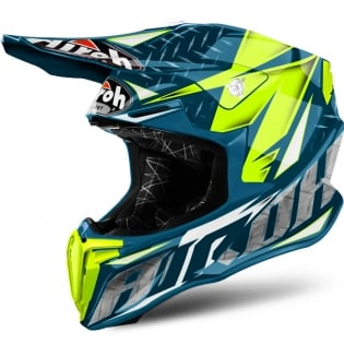 2018 Airoh Twist Helmet Iron Blue Image 2