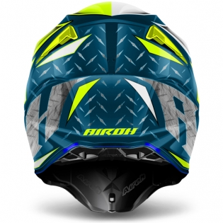 2018 Airoh Twist Helmet Iron Blue Image 3