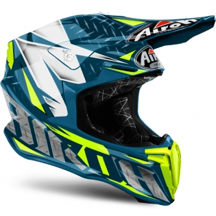 2018 Airoh Twist Helmet Iron Blue Image 4