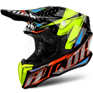 2018 Airoh Twist Helmet Iron Orange Image 2