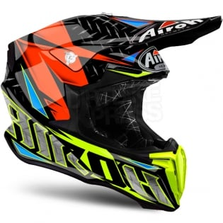 2018 Airoh Twist Helmet Iron Orange Image 4