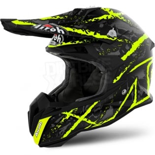 Airoh Terminator Open Vision Helmet - Carnage Yellow Image 2