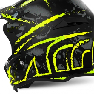 Airoh Terminator Open Vision Helmet - Carnage Yellow Image 3