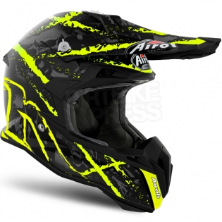 Airoh Terminator Open Vision Helmet - Carnage Yellow Image 4