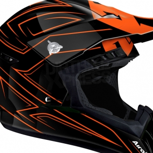2018 Airoh Switch Helmet Spacer Orange Gloss Image 2