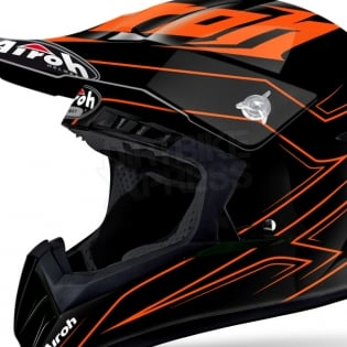 2018 Airoh Switch Helmet Spacer Orange Gloss Image 4