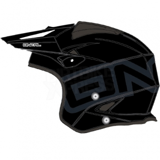 ONeal Slat Trials Helmet - Solid Black Image 4
