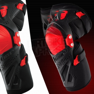 Thor Kids Force XP Knee Guards - Black Red Image 4