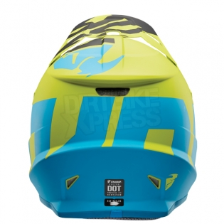 2018 Thor Sector Helmet - Level Electric Blue Lime Image 2