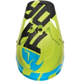 2018 Thor Sector Helmet - Level Electric Blue Lime Image 4