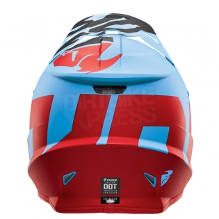 2018 Thor Sector Helmet - Level Powder Blue Red Image 2