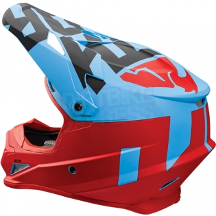 2018 Thor Sector Helmet - Level Powder Blue Red Image 3