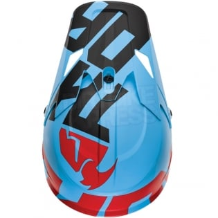 2018 Thor Sector Helmet - Level Powder Blue Red Image 4