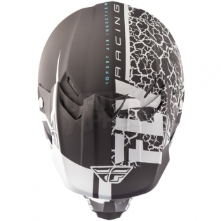 2018 Fly Racing F2 Carbon Helmet - Fracture Matte Black White Image 2