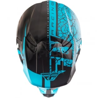 2018 Fly Racing F2 Carbon Helmet - Fracture Gloss Light Blue Black Image 2