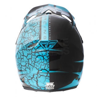 2018 Fly Racing F2 Carbon Helmet - Fracture Gloss Light Blue Black Image 4