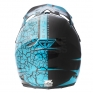 2018 Fly Racing F2 Carbon Helmet - Fracture Gloss Light Blue Black