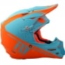 2018 Fly Racing F2 Carbon Helmet - Rewire Matte Light Blue Orange
