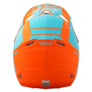 2018 Fly Racing F2 Carbon Helmet - Rewire Matte Light Blue Orange Image 4