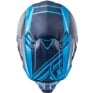 2018 Fly Racing F2 Carbon Helmet - Rewire Gloss Navy Blue Light Blue