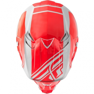 2018 Fly Racing F2 Carbon Helmet - Rewire Gloss Red Grey Image 2