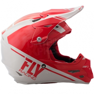 2018 Fly Racing F2 Carbon Helmet - Rewire Gloss Red Grey Image 3