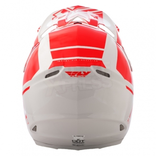 2018 Fly Racing F2 Carbon Helmet - Rewire Gloss Red Grey Image 4