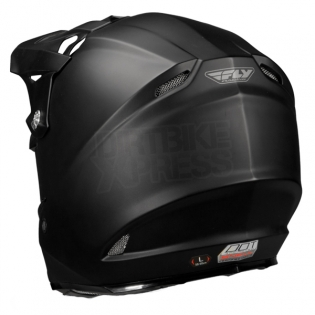 2018 Fly Racing F2 Carbon Solid Helmet - Matte Black Image 2