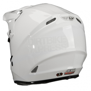 2018 Fly Racing F2 Carbon Solid Helmet - Gloss White Image 2