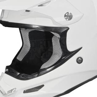 2018 Fly Racing F2 Carbon Solid Helmet - Gloss White Image 3