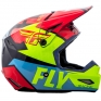 2018 Fly Racing Elite Helmet - Guild Gloss Red Blue Hi Viz