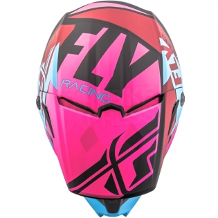 2018 Fly Racing Elite Helmet - Guild Matte Neon Pink Blue Black Image 2