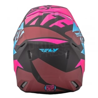 2018 Fly Racing Elite Helmet - Guild Matte Neon Pink Blue Black Image 4