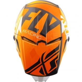 2018 Fly Racing Elite Helmet - Guild Gloss Orange White Black Image 2