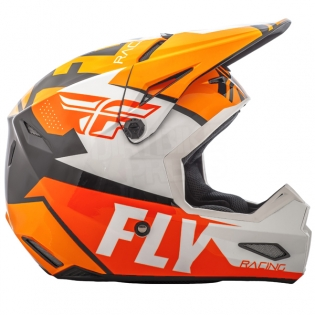 2018 Fly Racing Elite Helmet - Guild Gloss Orange White Black Image 3