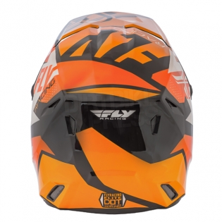 2018 Fly Racing Elite Helmet - Guild Gloss Orange White Black Image 4