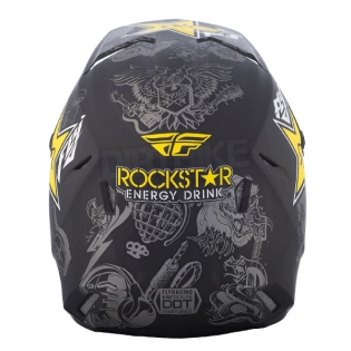 2018 Fly Racing Elite Helmet - Rockstar Black Charcoal Yellow Image 4