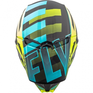 2018 Fly Racing Elite Helmet - Interlace Hi Viz Blue Black Image 2