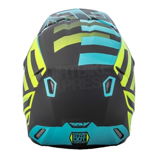 2018 Fly Racing Elite Helmet - Interlace Hi Viz Blue Black Image 4