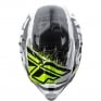 2018 Fly Racing Kinetic Burnish Helmet - Black White Hi Viz