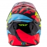2018 Fly Racing Kids Elite Helmet - Guild Gloss Red Blue Hi Viz