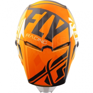 2018 Fly Racing Kids Elite Helmet - Guild Gloss Orange White Black Image 2